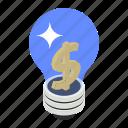 business idea, corporate idea, financial innovation, trade idea, trade innovation icon