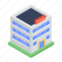 building, city building, commercial center, modern building, shopping mall icon