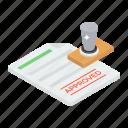 endorsement stamp, hallmark, identification stamp, legal document, signature mark, stamp paper icon