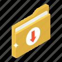 data downloading, document download, file download, folder download, saved folder icon
