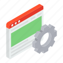software development, web configuration, web development, web settings, website maintenance icon