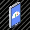 cloud computing, cloud data, cloud download, cloud hosting, cloud upload icon