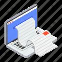 bill, online receipt, receipt paper, shopping receipt, voucher icon