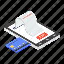 bill, bill payment, card payment, payment gateway, receipt paper, shopping receipt, voucher icon