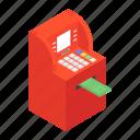 atm machine, card transaction, cash dispenser, instant banking, payment gateway icon
