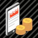 business app, digital money, internet earning, mobile money, online earnings, savings icon