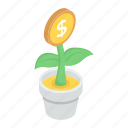 business development, business growth, financial growth, investment, money growth, money plant icon
