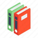 data archives, data management, folders, official document, registers icon