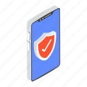 antivirus, antivirus shield, mobile antivirus, network security, protective shield icon