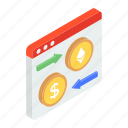 currency exchange, dollar exchange, forex website, money conversion, money exchange icon