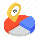 business chart, business location, company location, gps, infographic chart, pie chart, scattered pie icon