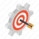 customized target, goal setting, target configuration, target management, target setting icon