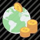 foreign currency, global finance, international money, online earnings, worldwide money icon