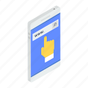 browsing, finger gesture, mobile surfing, searching, seo icon