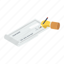 cheque, cheque writing, receipt paper, voucher, cash cheque, negotiable instrument, bill icon