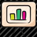 business analytics, business presentation, corporate presentation, growth chart, presentation easel