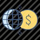 business, cash, dollar, finance, gobal, marketing, money icon