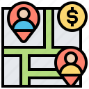 business, location, maze, pathway, route icon