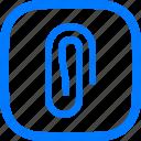 paperclip, attachment, clip, attach, paper, document, file