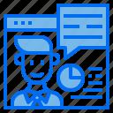 website, man, chart, chat, box, business