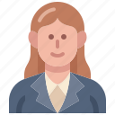 businesswoman, worker, woman, female, salarywoman, avatar, consultant