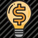 creative, business, innovation, light, bulb, inspiration, money