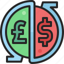currency, exchange, transaction, economy, dollar, pound, arrow