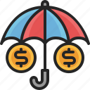 insurance, umbrella, protection, money, business, safety, security