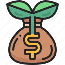 money, growth, plant, bank, bag, green, investment