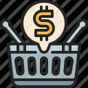 online, shopping, e, commerce, basket, supermarket, business