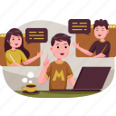 business, illustration, online, meeting, internet, office, marketing