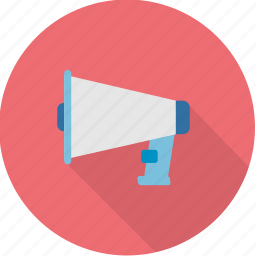 alert, audio, horn, media, megaphone, noise, sound icon