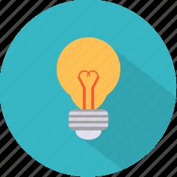 bulb, electric, energy, inspiration, lamp, light, lightbulb icon