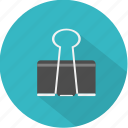 attachment, document, metal, office, paper, paperclip, steel icon