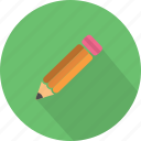 creativity, drawing, edit, equipment, pencil, school, write icon