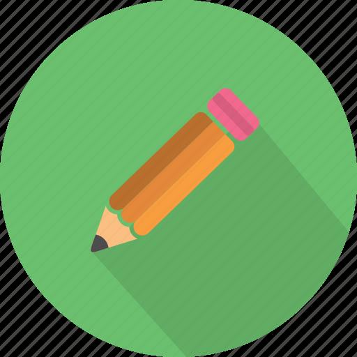 creativity, drawing, edit, equipment, pencil, school, write icon