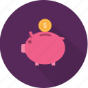 bank, coin, economy, finance, piggy, profit, rich icon