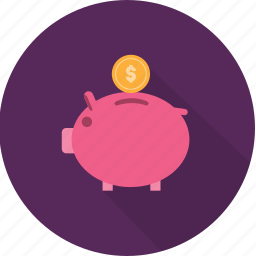 bank, coin, economy, finance, piggy, profit, rich icon