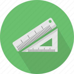 education, equipment, line, rulers, scale, student, tool icon