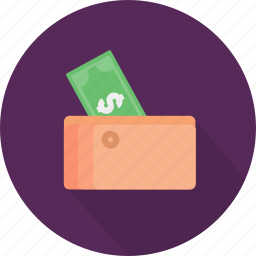 bag, cash, money, pay, rich, saving, wallet icon