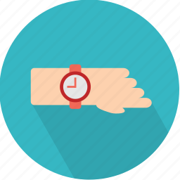 clock, fashion, hand, hour, late, time, watch icon