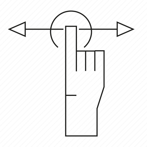 arrow, click, cursor, finger, hand, touch icon