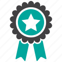 award, badge, prize, ribbon icon
