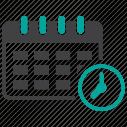 calendar, date, schedule, timer icon