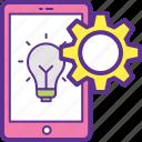 business development, idea management, innovation process, open innovation, product development icon