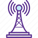 network tower, signal tower, wifi hotspot tower, wifi tower, wireless antenna icon