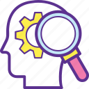 critical judgment, critical thinking, criticism, feedback, key points icon