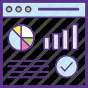 keyword analysis, seo analysis, seo graph, seo optimization, seo performance icon