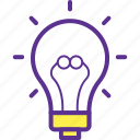 creativity, idea, inspiration, light bulb, luminaire icon
