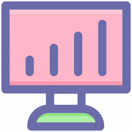 Chart, diagram, graph, lcd, lcd graph, monitor, statistic icon - Download on Iconfinder